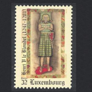 Luxembourg 750th Anniversary of Accession of Henri V Count of Luxembourg 1v
