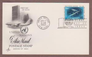 UN Airmail # C8 , Outer Space ArtCraft First Day Post Card - I Combine S/H
