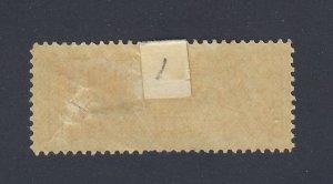 Canada 2c Registered MHR Stamp #F1-2c MHR VF Guide Value = $150.00