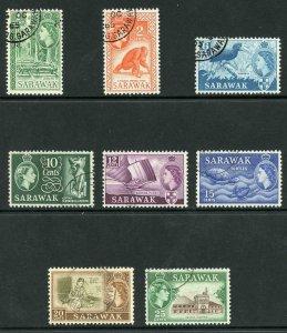 SARAWAK SG204/11 1964-65 Wmk w12 set of 8 CDS used