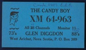 QSL QSO RADIO CARDTHE CANDY BOYWest Arichat,Nova Scotia(Q24)