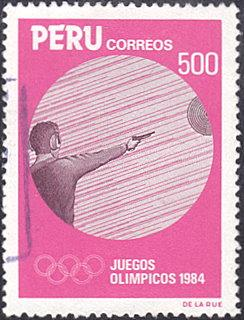 Peru # 821 used ~ 500s Olympics - Shooting