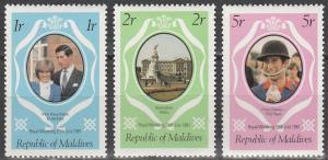 Maldive Is #906-8 MNH F-VF  (V2962)
