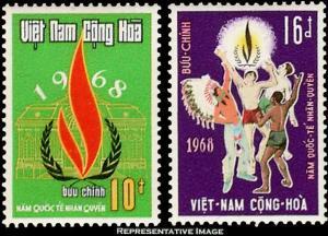 Vietnam Scott 335-336 Unused lightly hinged.