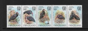BIRDS - SWAZILAND #448  MNH