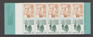 Sweden Sc 1228a 1977 Christmas  stamp bklt of 10 mint NH