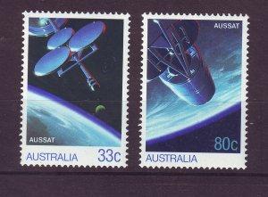 J23849 JLstamps 1986 australia set mnh #972-3 space