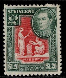 ST. VINCENT GVI SG175, $1.20 scarlet & deep green, M MINT.