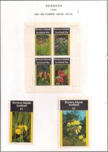 SCOTLAND - BERNERA - 1982 -Flowers (19) - 4v Perf. Min, D/L Sheets - MLH