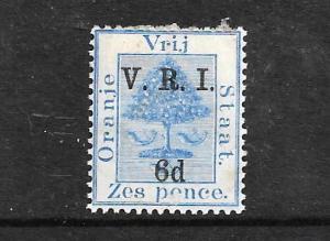 ORANGE FREE STATE  1900 6d on 6d  V.R.I.   MH  SG 109