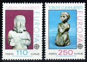 Turkey #1972-3  CV $6.50 (X1473)