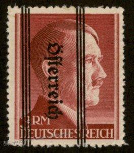 Austria 3RM Hitler Overprint Invert Stamp Postwar MNH Expertized 92975
