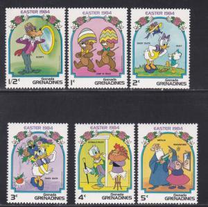 Grenada Grenadines MNH 580-5 Disney's Easter 1984