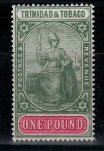 Trinidad & Tobago 1921-1922 SC 20 LH CV$ 190