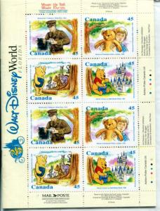 Canada Winnie the Pooh complete booklet  VF NH