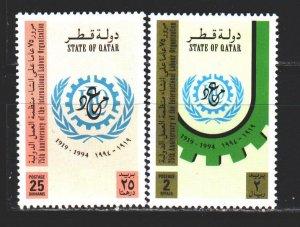 Qatar. 1994. 1037-38. The International Labour Organization. MNH.