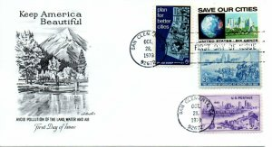 US FDC 1411  Anti-Pollution Combo, Artmaster (7837)