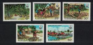 Kiribati Copra Industry 5v SG#205-209