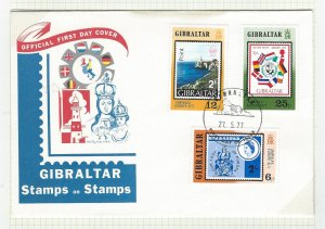 Gibraltar first day cover    mnh  sc  356-358