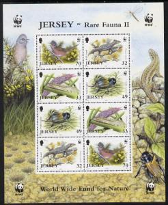 Jersey 2004 WWF - Endangered Species perf m/sheet contain...