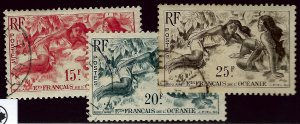 French Polynesia SC#176-178 Used F-VF...A World of Stamps!