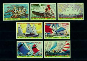 [100012] Equatorial Guinea 1976 Olympic Games Montreal Sailing Imperf. MNH