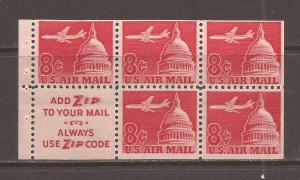 United States scott #C64b Booklet Pane m/nh stock #N4652