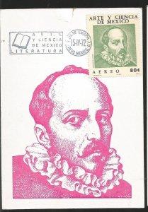O)1972 MEXICO, JUAN RUIZ ALARCON LAWYER, MAXIMUM CARD. XF