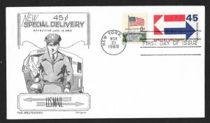 UNITED STATES FDC 45¢ Special Delivery 1969 Aristocrats