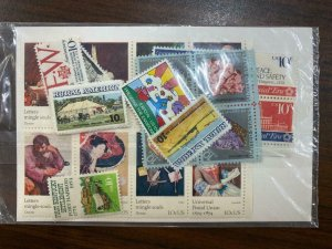 US Stamps 1974 Mint NH Commemorative Year Set Complete in USPS Sealed Plastic