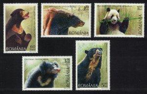 Romania Bears Panda 5v SG#6880-6884 MI#6284-6288 CV£10+
