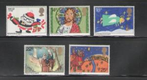 Great Britain Sc 960-4 1981 Christmas stamp set mint NH