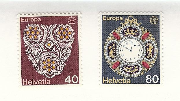 Switzerland, 614-15, Europa 1976 Singles, MNH