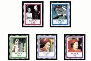 Samoa 670-74 MNH 1986 QEII 60th Birthday