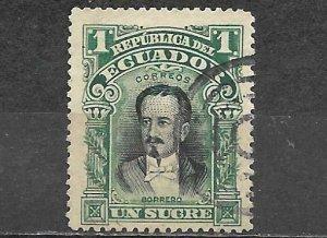 Ecuador 1907 Stamp Scott #173 Used 1 Sucre Antonio Borrero