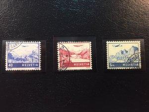 Switzerland #C28,C33,C34 Used