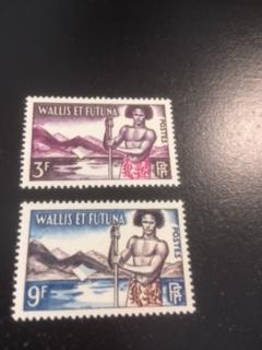 Wallis + Futuna Islands sc 150-151 MLH