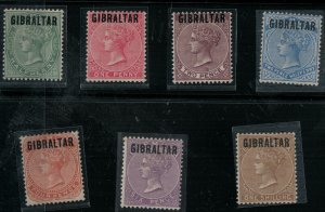 Gibraltar SC 1-7 (7 Signed) Mint 1886 SCV$ 1532.00 Set