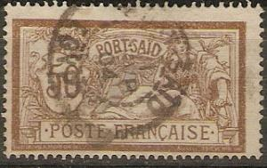 France Off Egypt Port Said 29 Used 1902 F/VF SCV $6.50