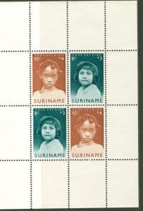 Surinam # B95a Children, souvenir sheet (1) Mint NH