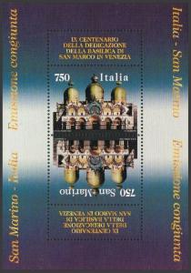 San Marino 1314a,MNH.Michel Bl.19. Dedication of St Mark's Basilica-900,1994.