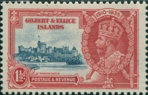 Gilbert & Ellice Islands 1935 SG37 1½d Silver Jubilee KGV MLH