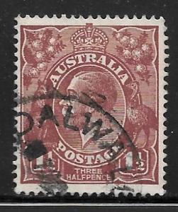 Australia 24: 1.5p King George V, used, F-VF