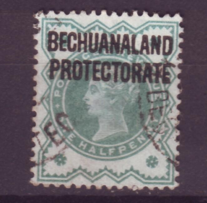 J14097 JLstamps 1902 bechuanaland used #75 queen ovpt