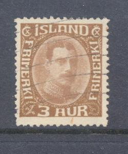Iceland Sc 177 1931 3 a Christian X stamp used