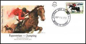 St Vincent Grenadines 925 Horse Olympics Fleetwood U/A FDC