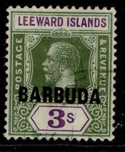 BARBUDA GV SG7, 3s bright green & violet, FINE USED. Cat £80.