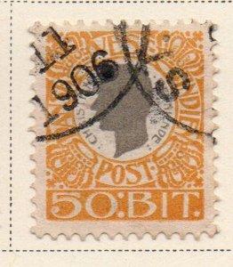 Danish West Indies Sc 36 1905 50 bit yellow & gray Christian IX stamp used