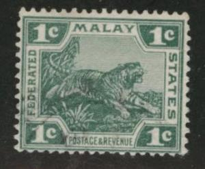 Malaya Scott 38 wmk 3 1906-1922 used die 2