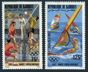 Djibouti C175-C176,MNH.Michel 361-362. Pre-Olympics Los Angeles-1984.Volleyball,